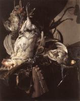 Жанровые сцены - Охотничий натюрморт с дичью и оружием