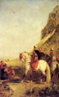 Жанровые сцены - Арабская охота с ястребом