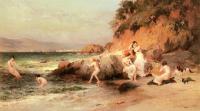 Картины ню, эротика в шедеврах живописи - Купающиеся красавицы