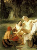 Картины ню, эротика в шедеврах живописи - Батшеба ( Вирсавия ), купание