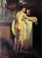 картина ню Обнажённая Венера, играющая с голубями :: Франческо Хейз