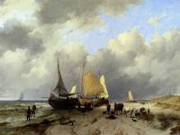 Море в живописи ( морские пейзажи, seascapes ) - Разгрузка рыбацкой шхуны
