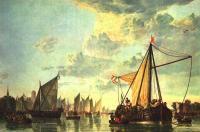 Море в живописи ( морские пейзажи, seascapes ) - Река Маас близ Дордрехта