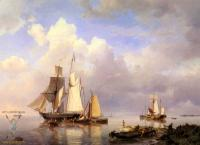 Море в живописи ( морские пейзажи, seascapes ) - Парусники на якоре