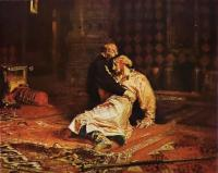 Репин Илья ( Ilya Yefimovich Repin ) - Иван Грозный над убитым сыном, 16 нобяря 1581