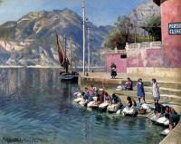 Море в живописи ( морские пейзажи, seascapes ) - Женщины за стиркой, Торболе