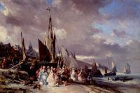 Море в живописи ( морские пейзажи, seascapes ) - Сцена в порту