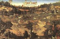 Исторические сюжеты в живописи - Охота в честь Карла V возле замка Торгау