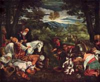 Библейские сюжеты в живописи - Моисей добывший воду из скалы