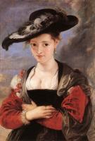 картина-портрет Дама в соломенной шляпке :: Питер Пауль Рубенс