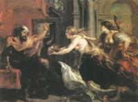 Peter Paul Rubens - Тереус, получающий голову своего сына Итилуса