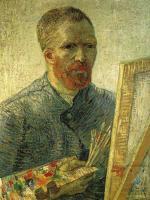 Автопортрет перед мольбертом :: Ван Гог, описание картины