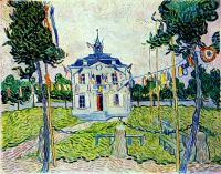 Van Gogh - Ратуша Ауверс 14 июля 1890