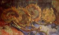 Van Gogh - Натюрморт с четырьмя срезаными подсолнухами