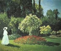 Жанна-Маргарита ( Мария ) Лекадр в саду :: Клод Моне  (Франция )