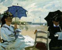 Моне Клод (Claude Monet) - Пляж в Трувиле