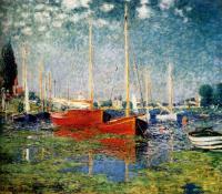картина Красные лодки в Аржантей :: Клод Моне ( Франция )
