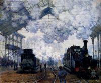 Моне Клод (Claude Monet) - Прибытие поезда ( вокзал Сен Лазар )