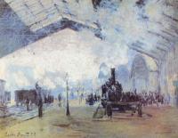 Моне Клод (Claude Monet) - Вокзал Сен-Лазар в Париже
