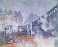 """Моне Клод (Claude Monet) - """"Мост в Европу"""", вокзал Сен-Лазар в Париже"""