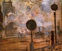 Моне Клод (Claude Monet) - Внешний вид вокзала Сен-Лазар (Сигнал)