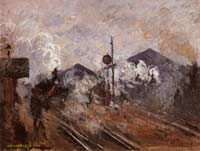 Моне Клод (Claude Monet) - Пути, выходящие с вокзала Сен-Лазар