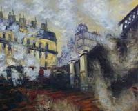 Моне Клод (Claude Monet) - Мост вокзала Сент Лазар