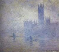 Claude Monet - Здание парламента, эффект тумана