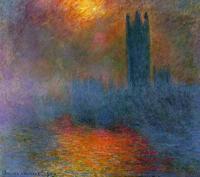 Claude Monet - Солнце, пробивающееся сквозь туман