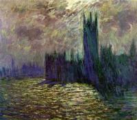 Claude Monet - Парламент, Лондон, сумерки