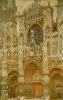 Моне Клод (Claude Monet) - Руанский собор, портал и башня Сен-Ромен: пасмурная погода