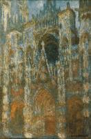 Claude Monet - Руанский собор, портал и башня Сен-Ромен: утреннее солнце, голубая гармония