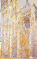 Моне Клод (Claude Monet) - Руанский собор, портал и башня Сен-Ромен, полдень