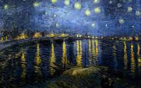 Звёздная ночь над Роной :: Винсент Виллем Ван Гог, описание картины