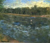 Van Gogh - Сена и лодка с гребцом