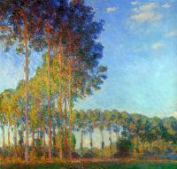 Моне Клод (Claude Monet) - Тополя на берегу реки Эпта