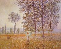 Моне Клод (Claude Monet) - Тополя в солнечном свете