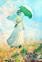 Моне Клод (Claude Monet) - Дама с зонтиком. Этюд ( поворот направо )