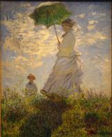 Камилла Моне и сын Жан на холме ( дама с зонтиком ) :: Клод Моне