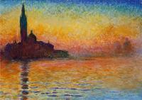 Claude Monet - Закат в Венеции