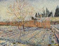 Van Gogh - Плодовый сад и кипарисы