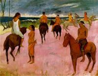 Paul Gauguin - Всадники на пляже