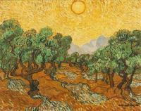Van Gogh (Ван Гог) - Оливковые деревья с жёлтыми небесами и солнцем