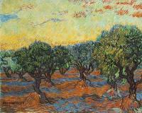 Van Gogh - Оливковая роща, оранжевое небо