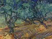 Van Gogh - Оливки, ярко-синее небо