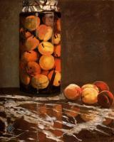 Claude Monet - Банка с персиками