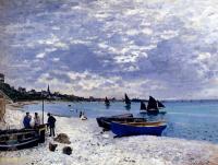 Моне Клод (Claude Monet) - Побережье возле Сент-Адресс