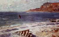 Моне Клод (Claude Monet) - Плавание возле Сент-Адресс