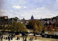Claude Monet - Набережная возле Лувра, Париж