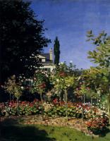 Claude Monet - Сад в цвету в  Сент-Адресс